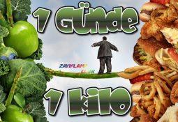 1 Günde 1 Kilo Nasıl Verilir?